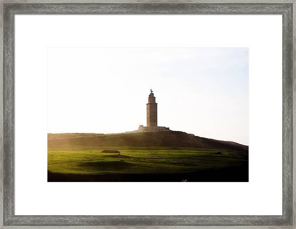 Torre De Hercules Framed Print
