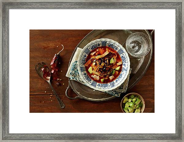 Tortilla Soup Framed Print