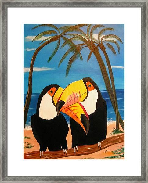 Toucan Love Framed Print