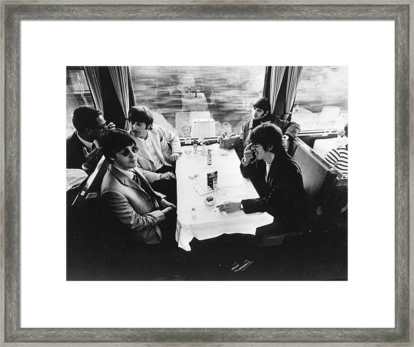 Touring By Train Framed Print