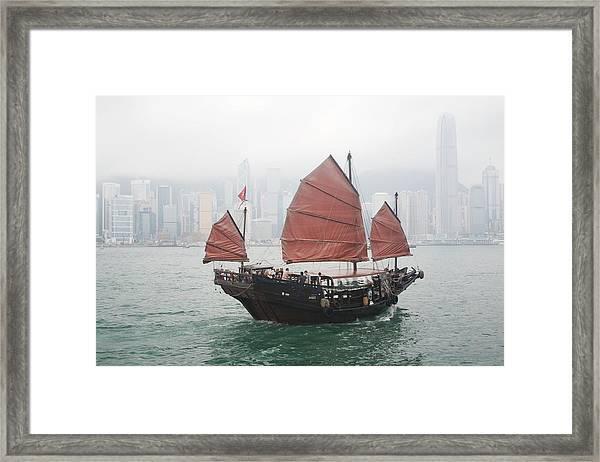 Tourist Junk On Cruise Framed Print