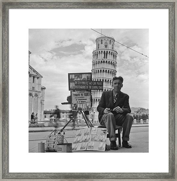 Tourist Photographer Framed Print