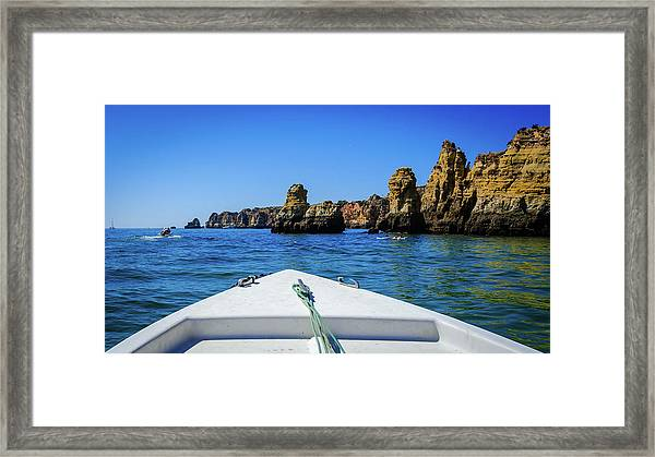 Towards The Cliffs Framed Print