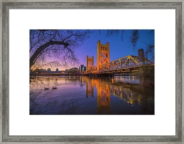 Tower Bridge At Sunrise - 4 Framed Print