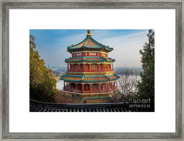Tower Of Buddhist Incense Framed Print