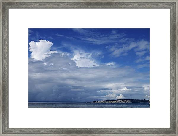 Towering Over Double Bluff Framed Print by Tom Trimbath