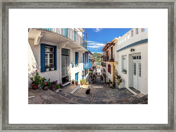 Town Of Skopelos Framed Print