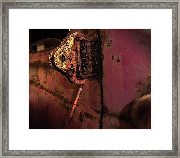 Truck Hinge Framed Print