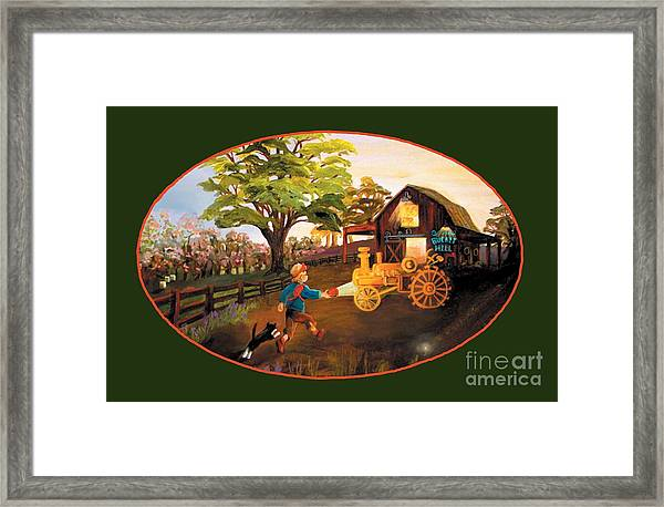 Tractor And Barn Framed Print