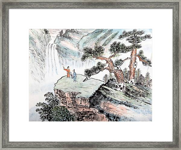Traditional Chinese Painting , Landscape Framed Print