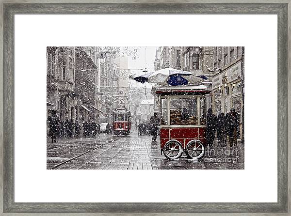 Traditional Fast Food Of Istanbul On Framed Print