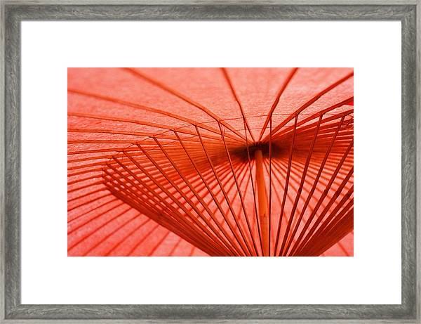 Traditional Japanese Umbrella At Nikko Framed Print