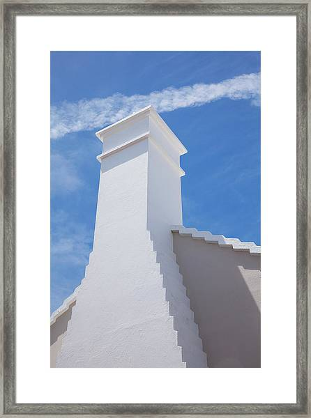 Traditional Roof And Chimney, Bermuda Framed Print