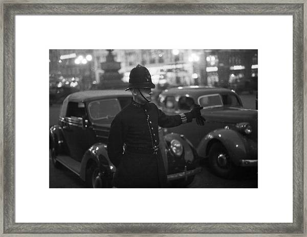 Traffic Cop Framed Print