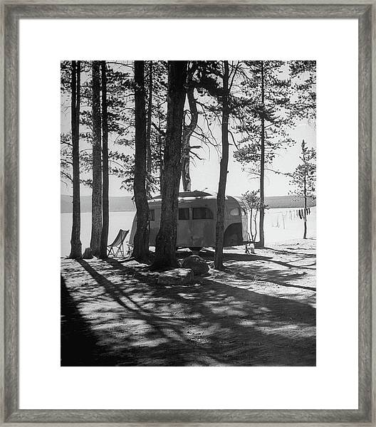 Trailer Park In Yellowstone National Framed Print
