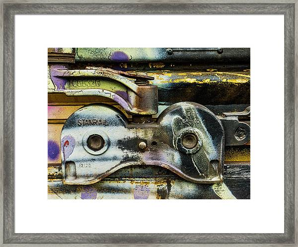 Train Bits Framed Print