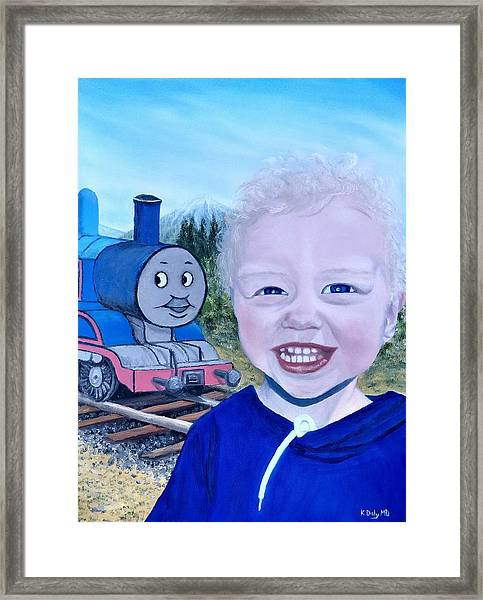 Framed Print featuring the painting Train by Kevin Daly