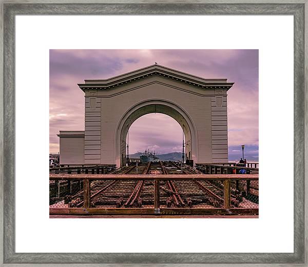 Train To Nowhere Framed Print