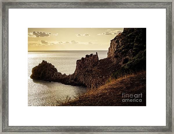 Tranquil Mediterranean Sunset    Framed Print