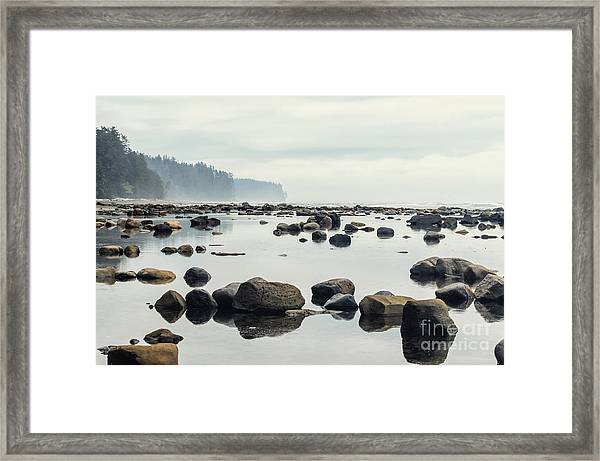 Tranquil Sea Water Surface Landscape Framed Print