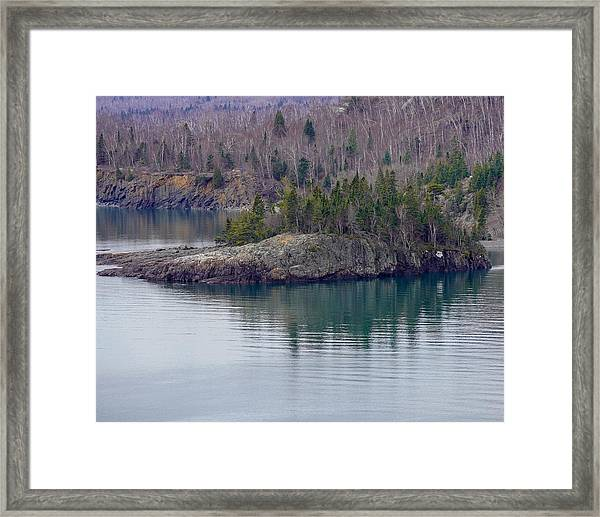 Tranquility In Silver Bay Framed Print