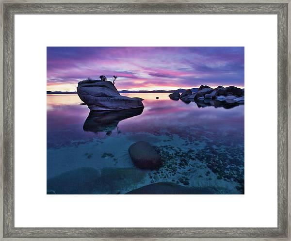 Transparent Sunset Framed Print