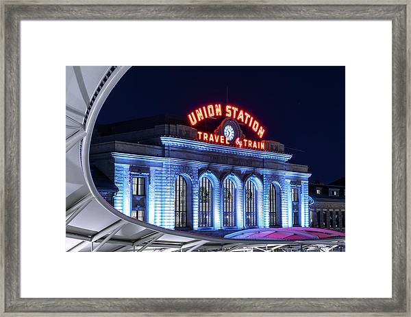 Travel By Train - Denver Union Station #2 Framed Print