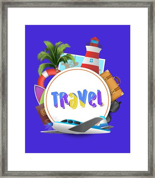 Travel World Framed Print