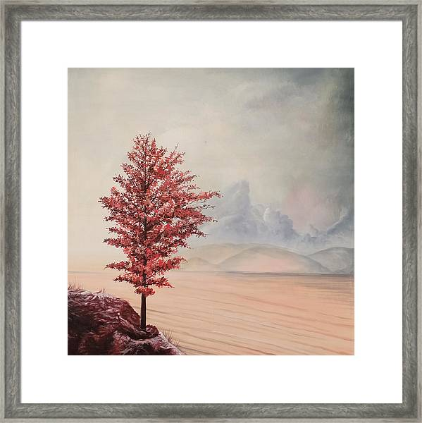 Framed Print featuring the painting Tree by Said Marie