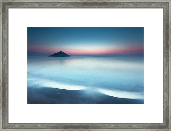 Triangle Island Framed Print