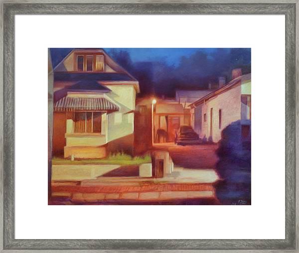 Trinidad Commercial Street Framed Print