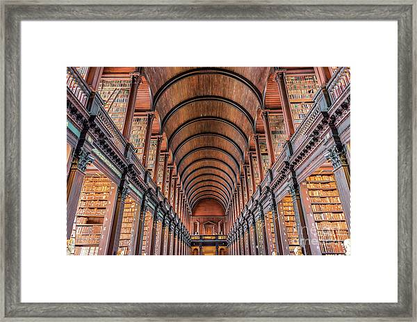 Trinity College Library In Dublin Framed Print by Delphimages Photo Creations