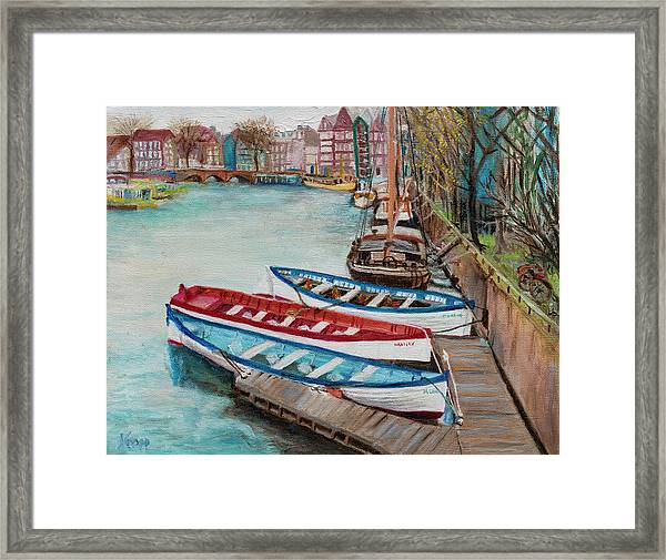 Trio Of Boats Framed Print