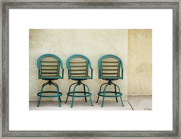 Framed Print featuring the photograph Trio Seationg by Dee Browning