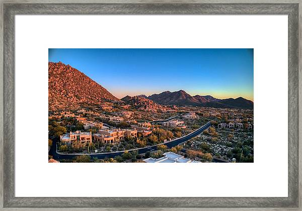 Troon Village Framed Print