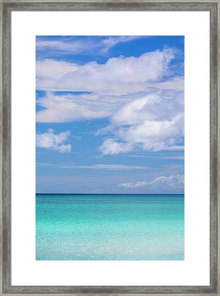 Tropical Beach And Clouds, Boracay Framed Print