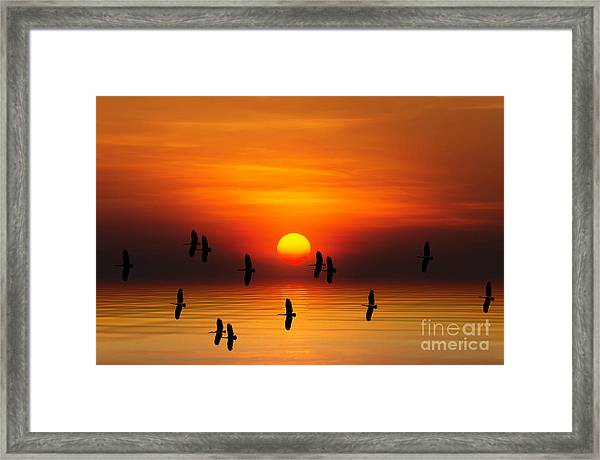 Tropical Colorful Sunset, Songkhla Framed Print by Siriwat Srinuroht