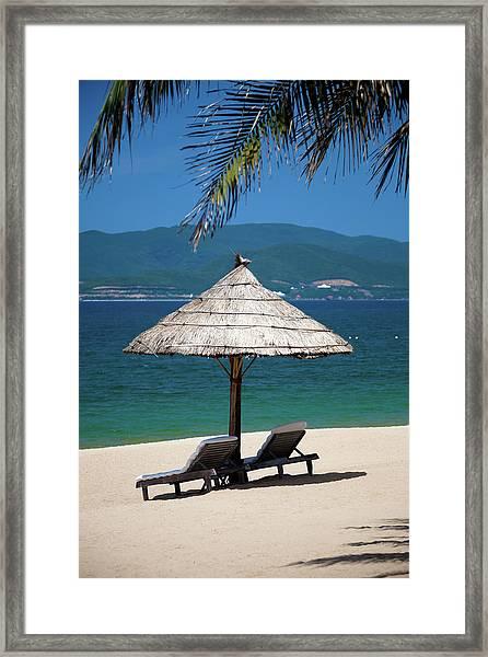 Tropical Holidays On Nha Trang Beach Framed Print