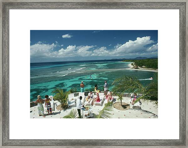 Tropical Mustique Framed Print