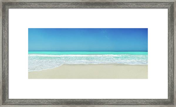 Tropical White Sand Beach Framed Print