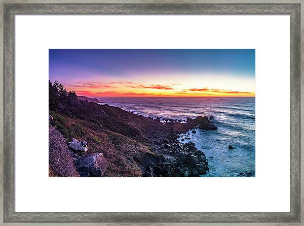 True Love By The Solstice Sunset Framed Print