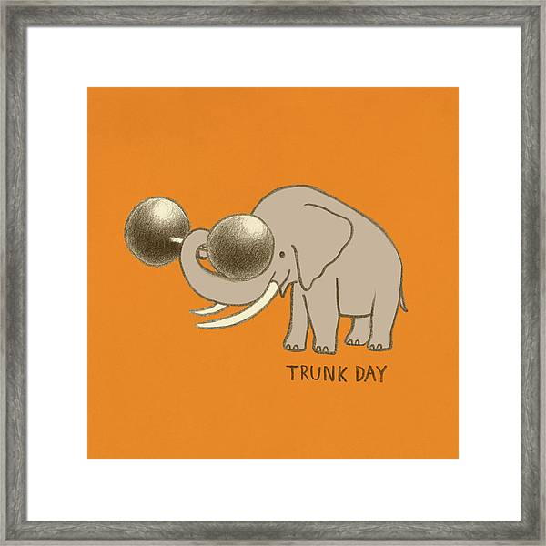 Trunk Day Framed Print