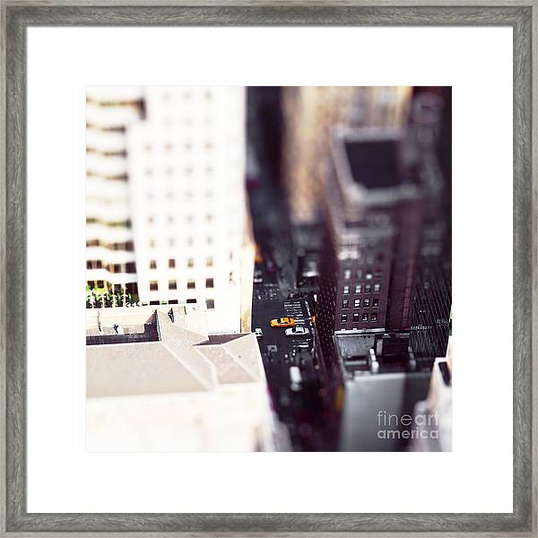 Ts Makes It Look Like A Toy City Framed Print