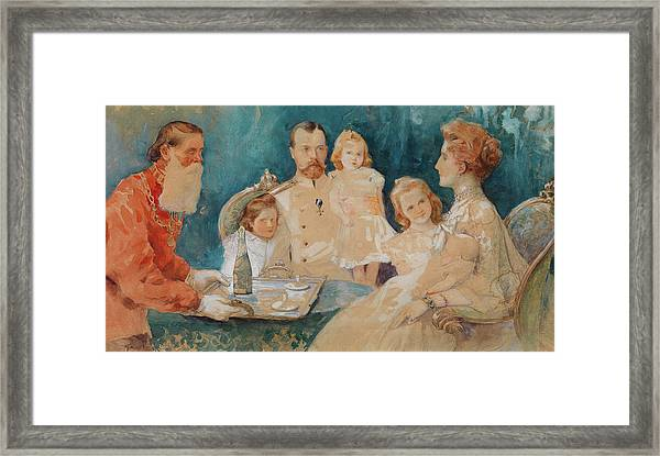 Tsar Nicholas I I And Family Framed Print