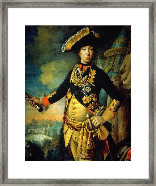 Tsar Peter IIi 1728-62 By Unknown Artist, Ca 1760 Oil On Canvas. Anonymous. Pedro IIi. Framed Print