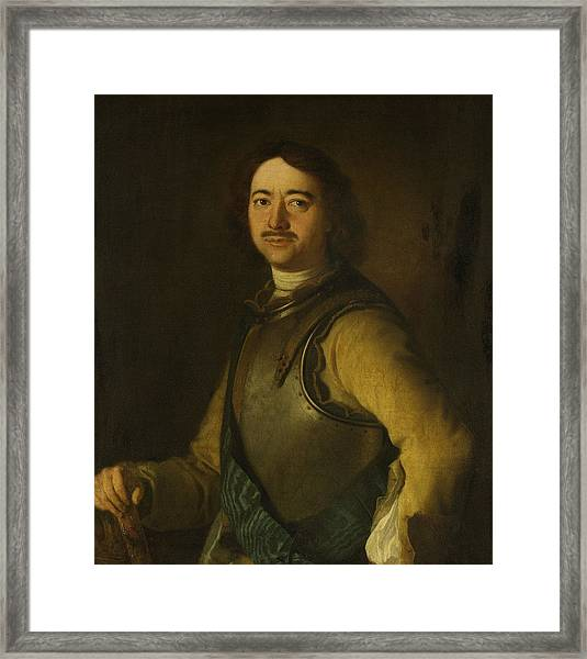 Tsar Peter The Great Painting Framed Print