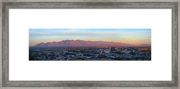 Framed Print featuring the photograph Tucson At Last Light by Chance Kafka