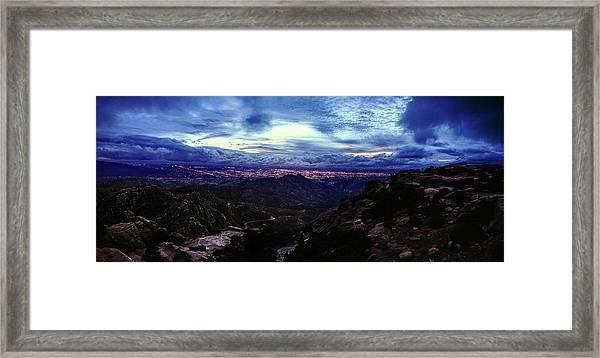 Tucson Twilight Panorama Framed Print