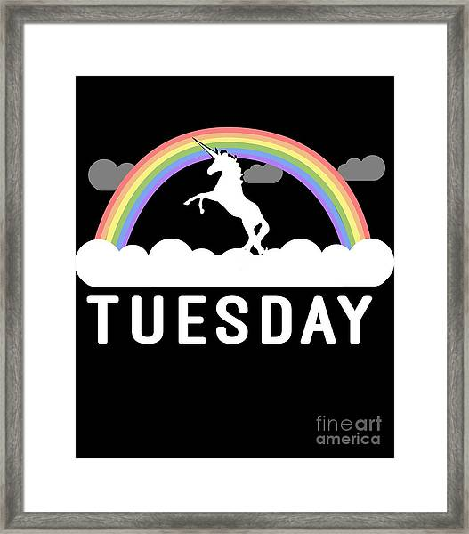 Framed Print featuring the digital art Tuesday by Flippin Sweet Gear