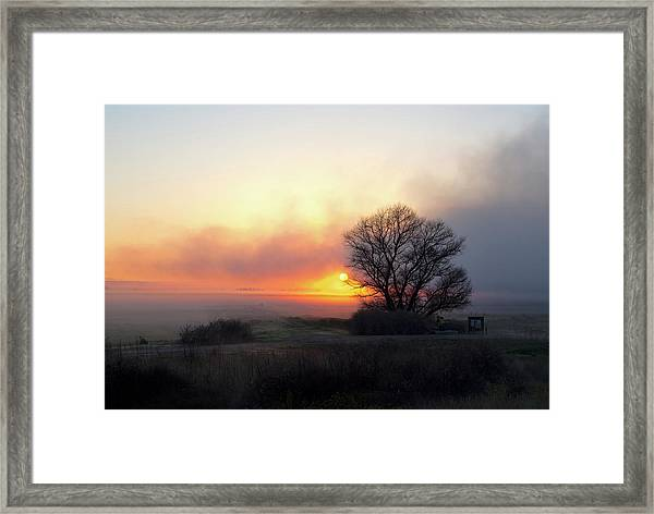 Tule Fog Sunrise  Framed Print